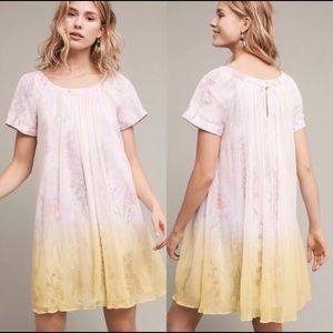 HD in Paris Chroma Ombré Floral Chiffon mini dress